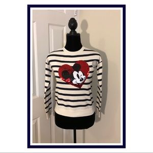 GAP Kids Mickey Mouse Flippy Sequins Sweater Girls